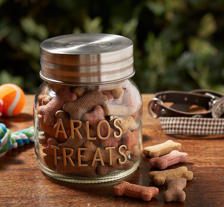 ball mason dog treat jar