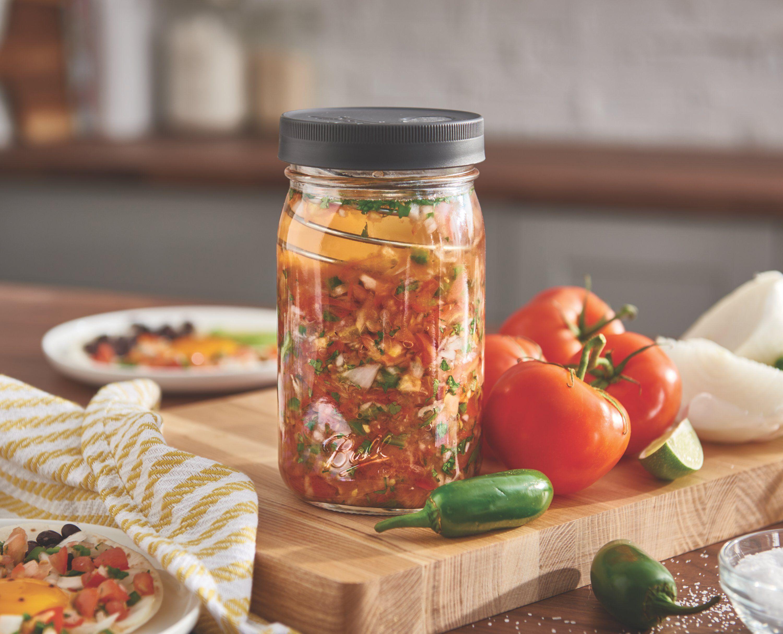 fermenting food in ball jar