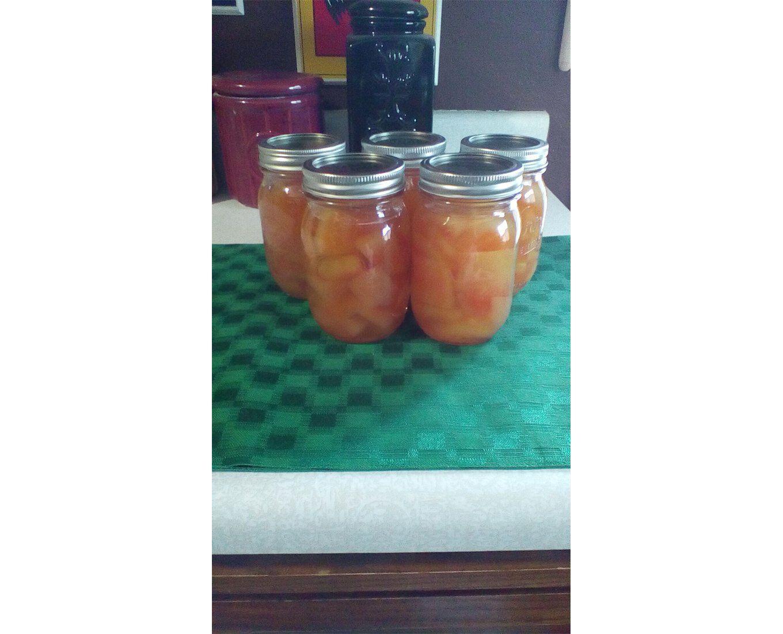mason jars preserving fruit