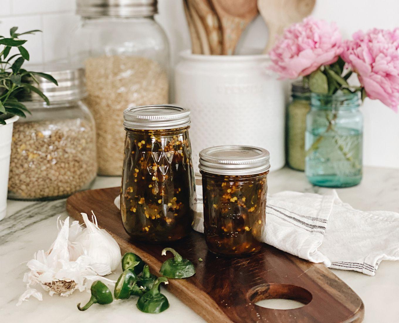 Assorted glass mason jars