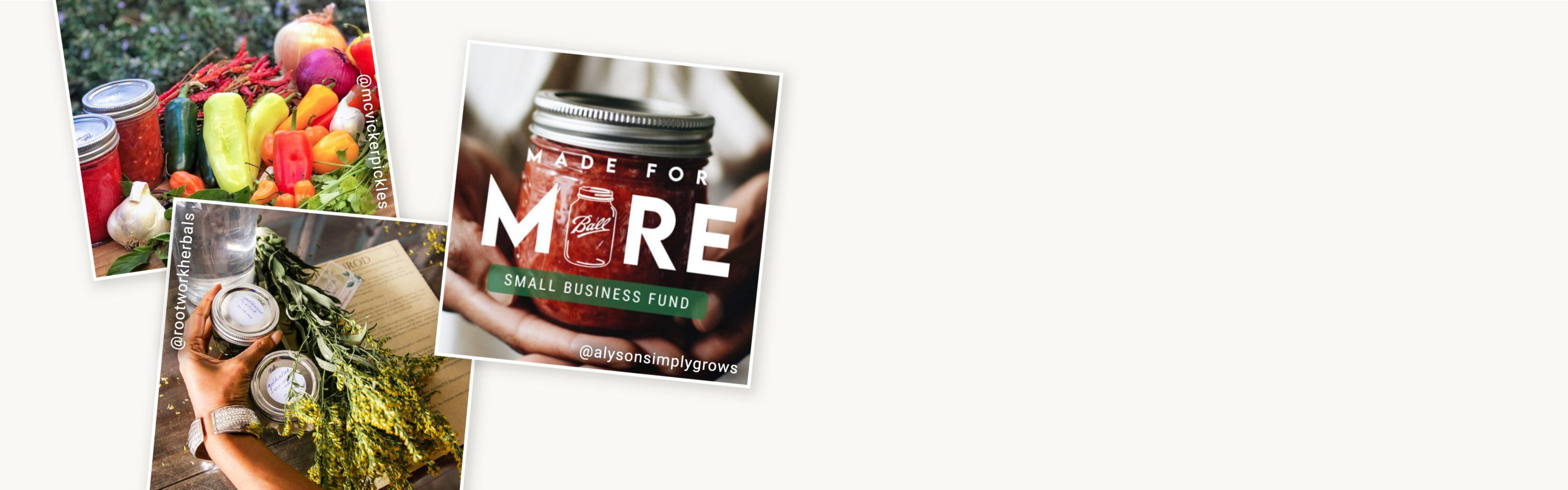 made for more small business fund canning instagram collage banner