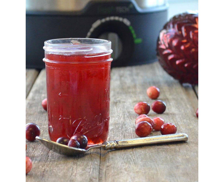 mason jar holding jelly