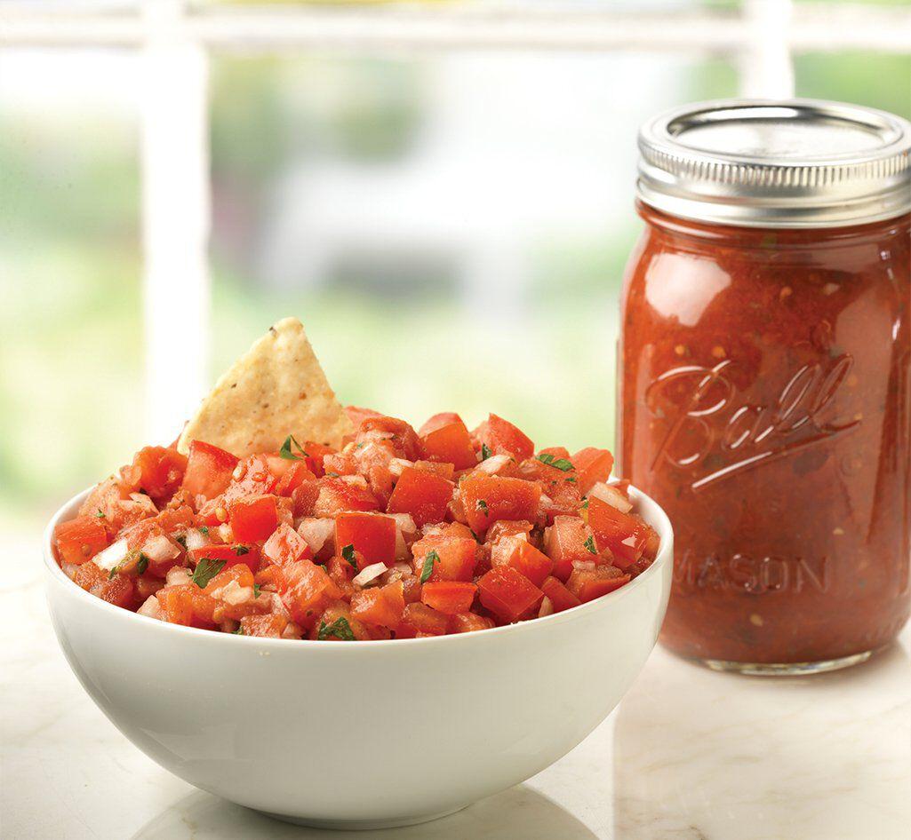 ball jar full of fresh preservings