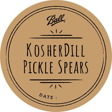 round label for fresh preserving, canning