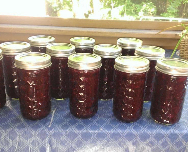 Blueberry Freezer Jam - Low or No-Sugar